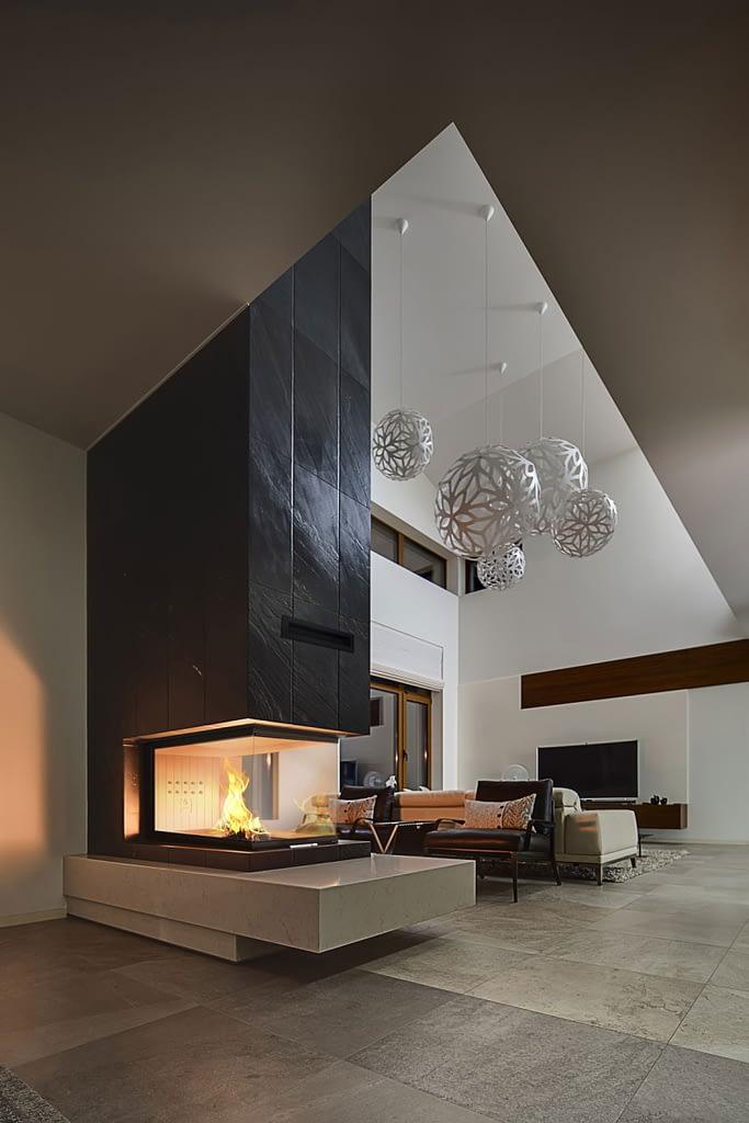Projekty wzory kominków ciepłych HITZE
